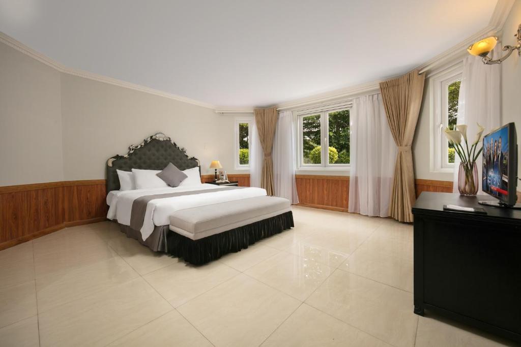 Phòng Deluxe Giường đôi Nhìn ra Khu vườn