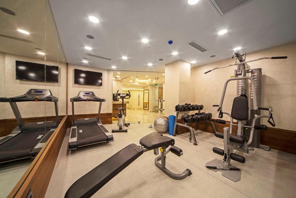 Фитнес-центр и/или тренажеры в Dosso Dossi Hotels Old City