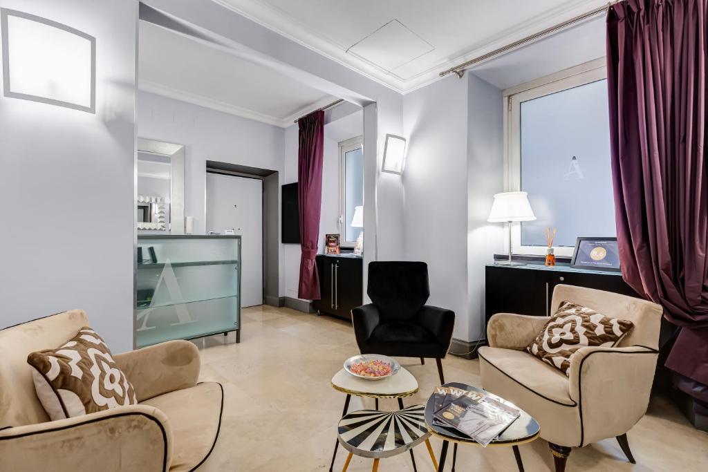 Area soggiorno di Residenza A The Small Art Hotel