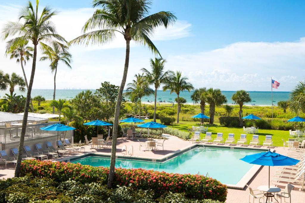 A view of the pool at Sanibel Inn or nearby