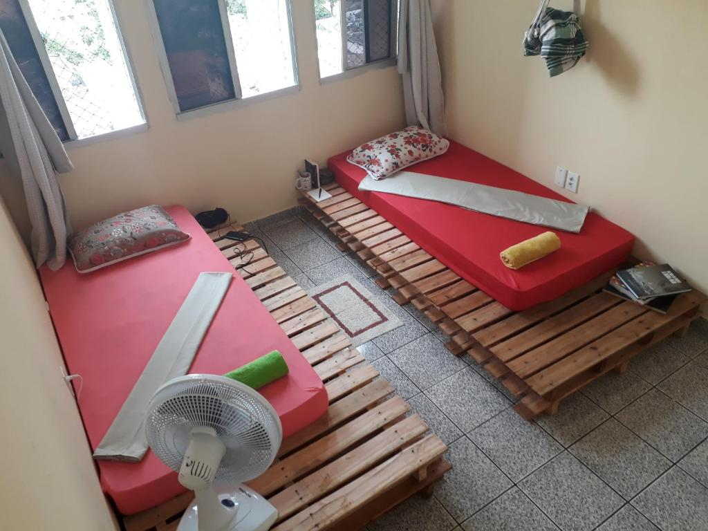 A seating area at Casa Feliz Hospedaria Elevada