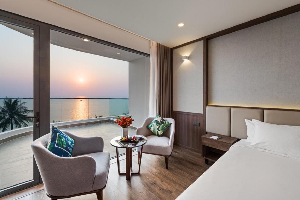 Phòng Deluxe 2 Giường Đơn Nhìn Ra Toàn Cảnh Biển