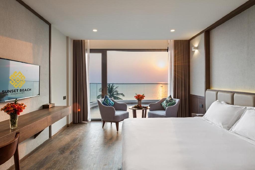 Phòng Deluxe Giường Đôi Nhìn Ra Toàn Cảnh Biển