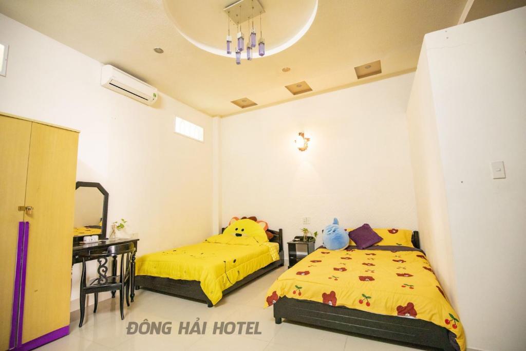 Phòng 2 giường đơn với phòng tắm