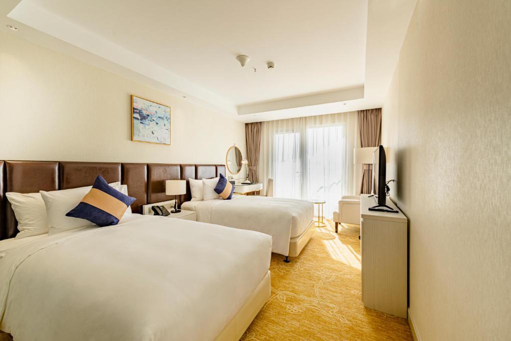 Phòng La Vela Deluxe 2 Giường Đơn Có Ban Công