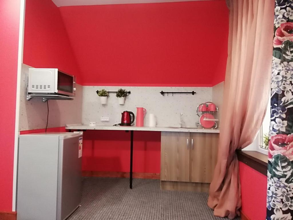 Кухня или мини-кухня в Отель Рауту