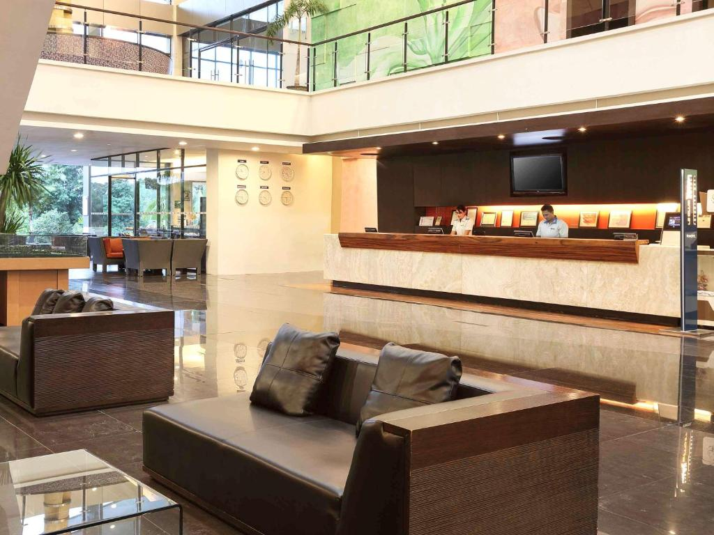 The lobby or reception area at Novotel Manado Golf Resort & Convention Center
