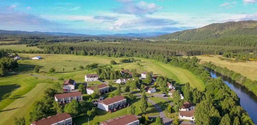 A bird's-eye view of Macdonald Spey Valley Resort