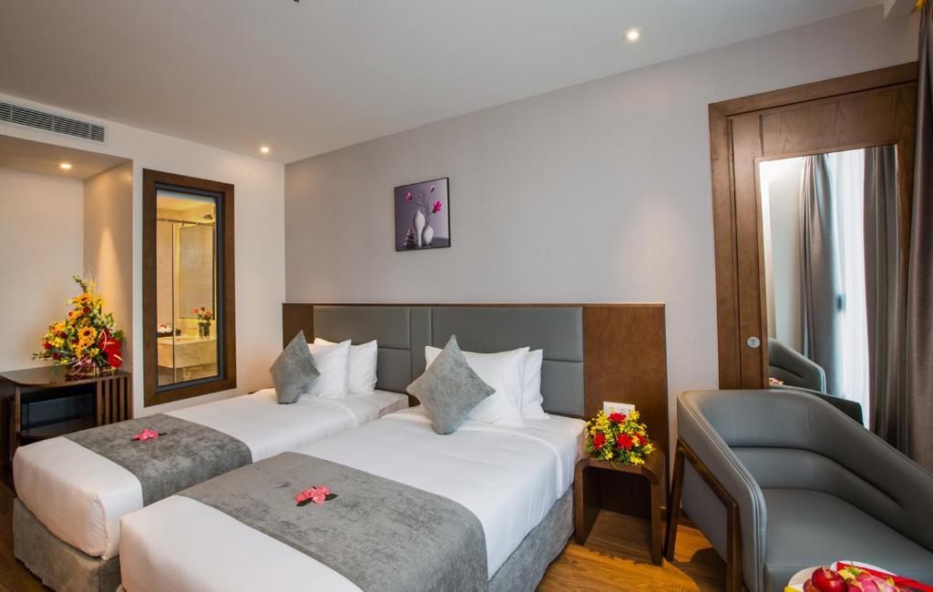 Phòng Deluxe Giường Đôi/2 Giường Đơn Nhìn Ra Biển