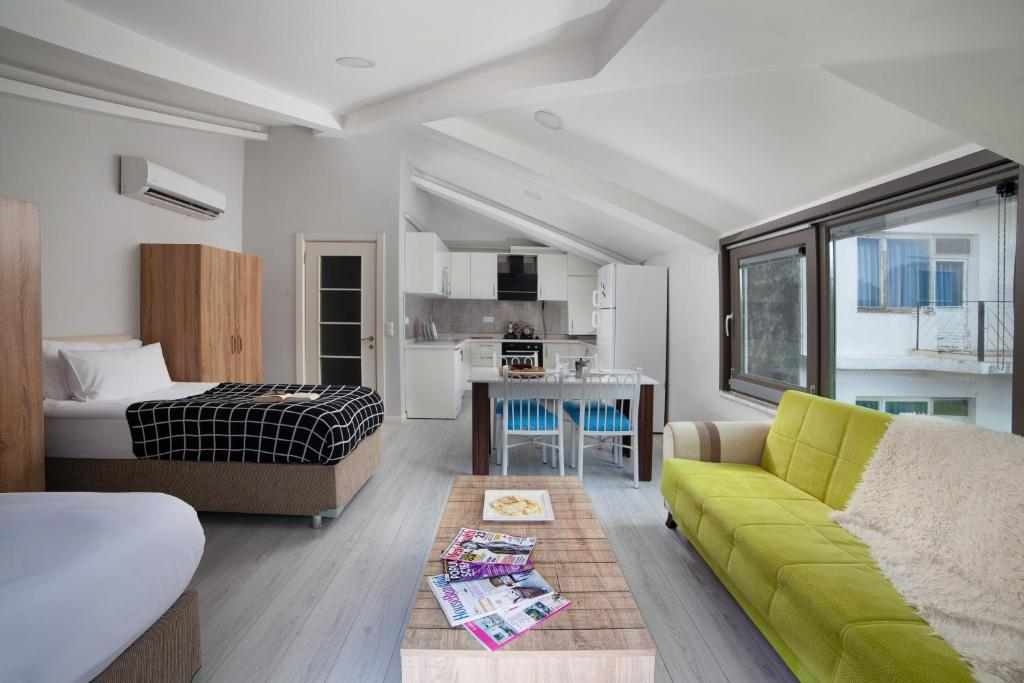 Гостиная зона в Konak Çırağan Private Flats & Suites
