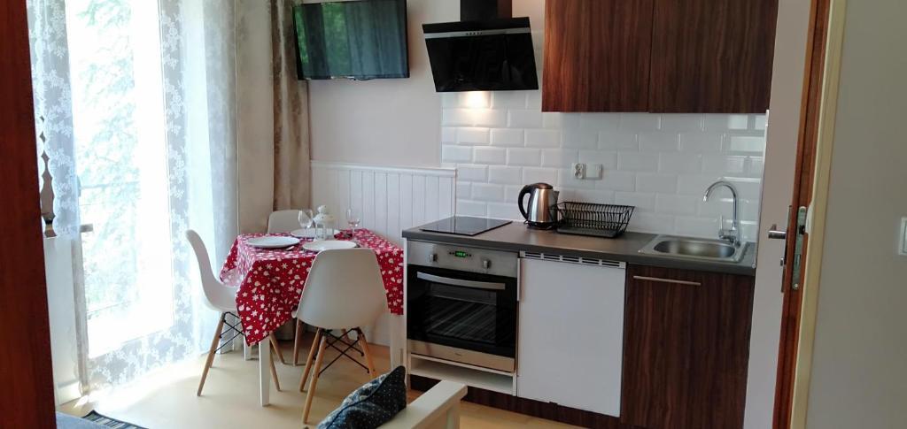 A kitchen or kitchenette at Willa na Wilcznik