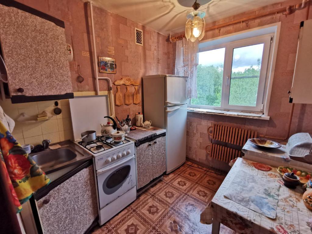 A kitchen or kitchenette at Ул Академика Павлова 11