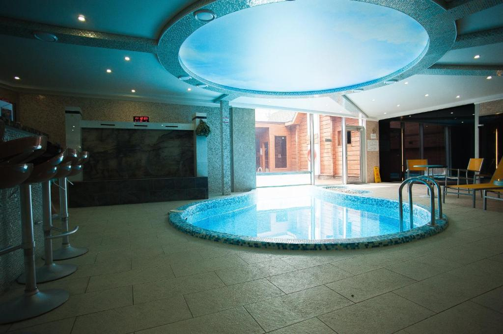 The swimming pool at or close to China-town hotel