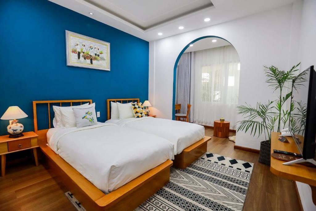Phòng Deluxe 2 Giường Đơn - Giặt Là Miễn Phí