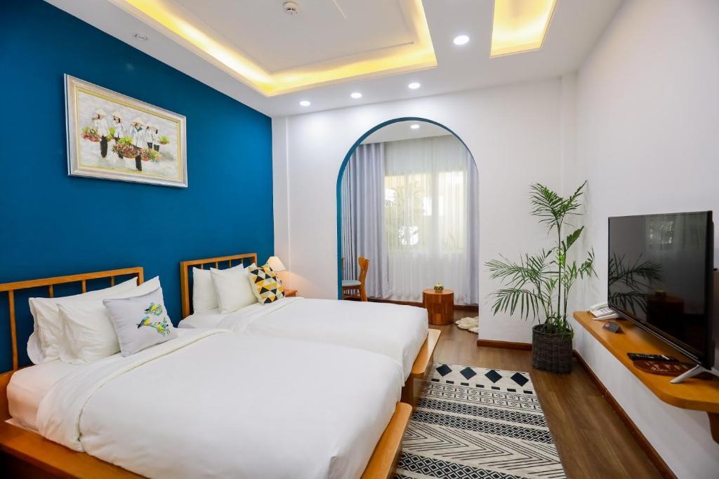 Phòng Deluxe Giường Đôi/2 Giường Đơn - Dịch Vụ Giặt Là Miễn Phí