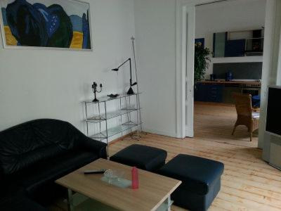 A seating area at DK-Monteurzimmer