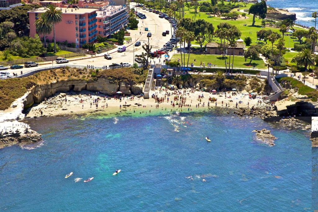 A bird's-eye view of La Jolla Cove Suites