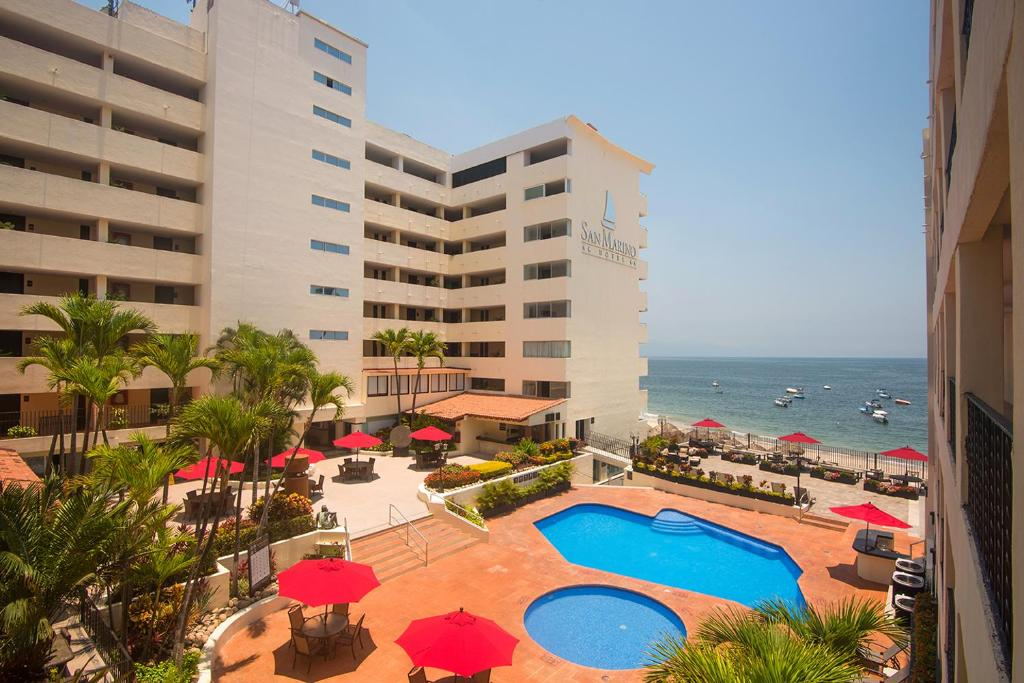 A view of the pool at San Marino Vallarta Centro Beach Front or nearby