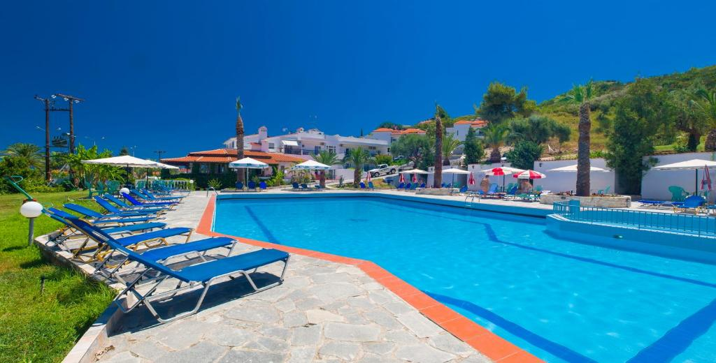 The swimming pool at or near Halkidiki Palace