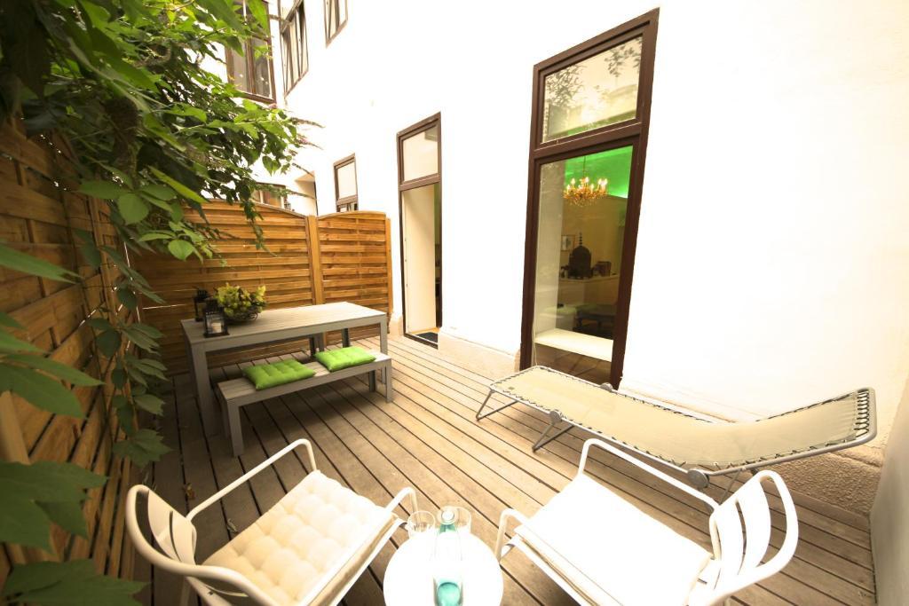 Ein Sitzbereich in der Unterkunft Hoheschule Apartment Levade