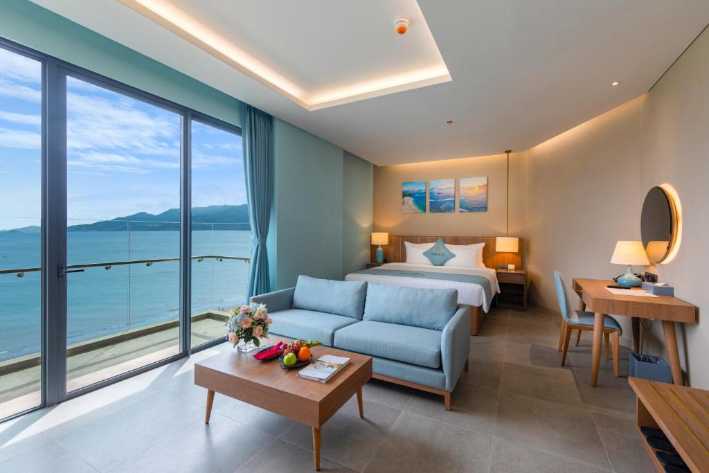 Phòng Có Giường Cỡ Queen Nhìn Ra Toàn Cảnh Biển