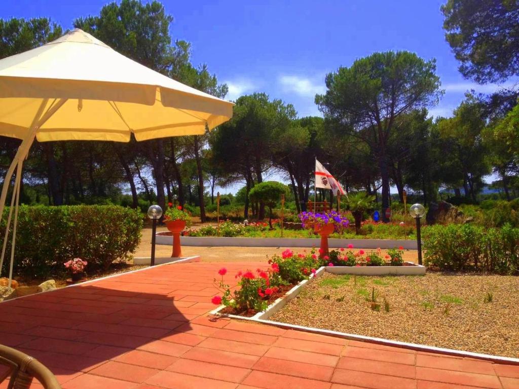 A garden outside Villaggio Nurral
