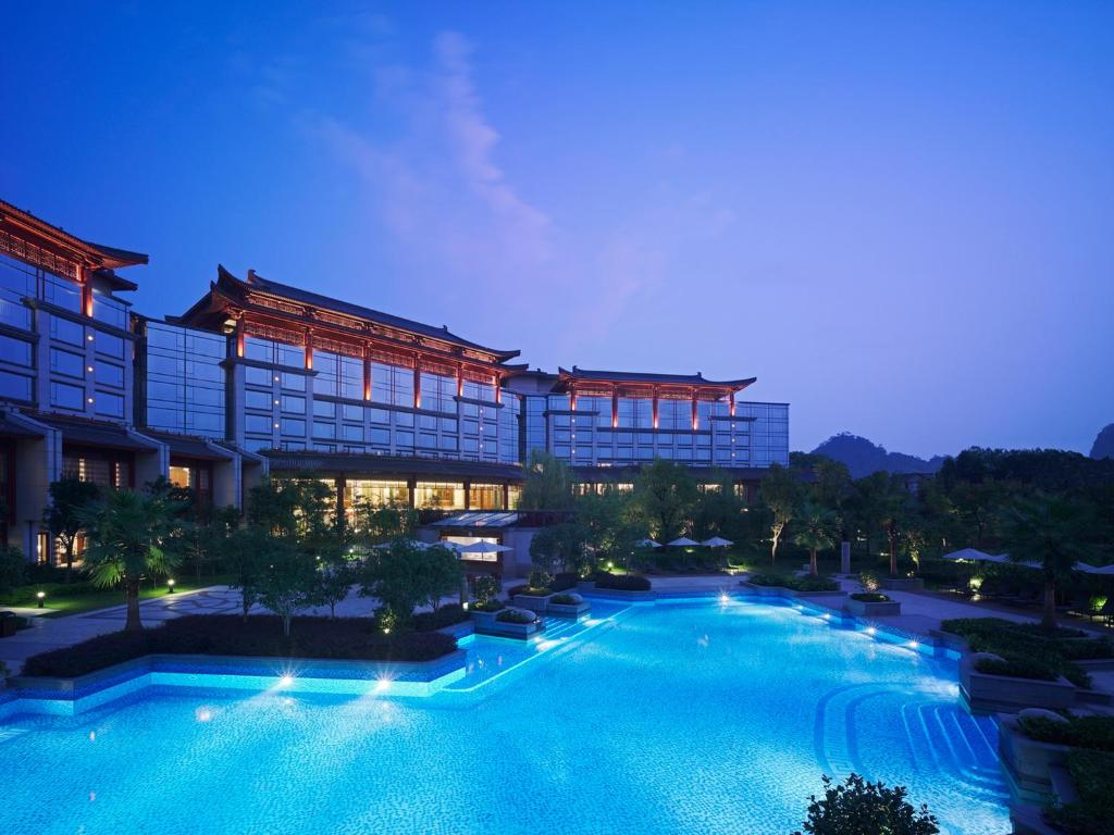 The swimming pool at or near Shangri-La Hotel, Guilin