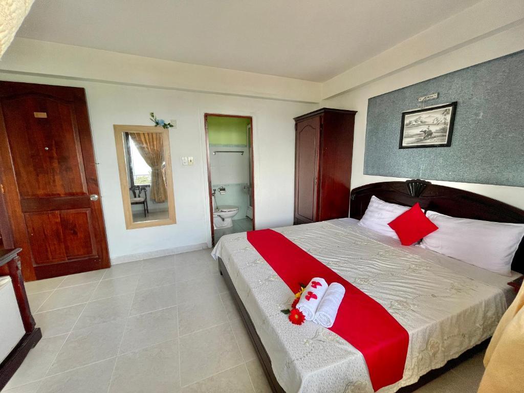 Phòng Giường Đôi có Ban công và Nhìn ra Biển
