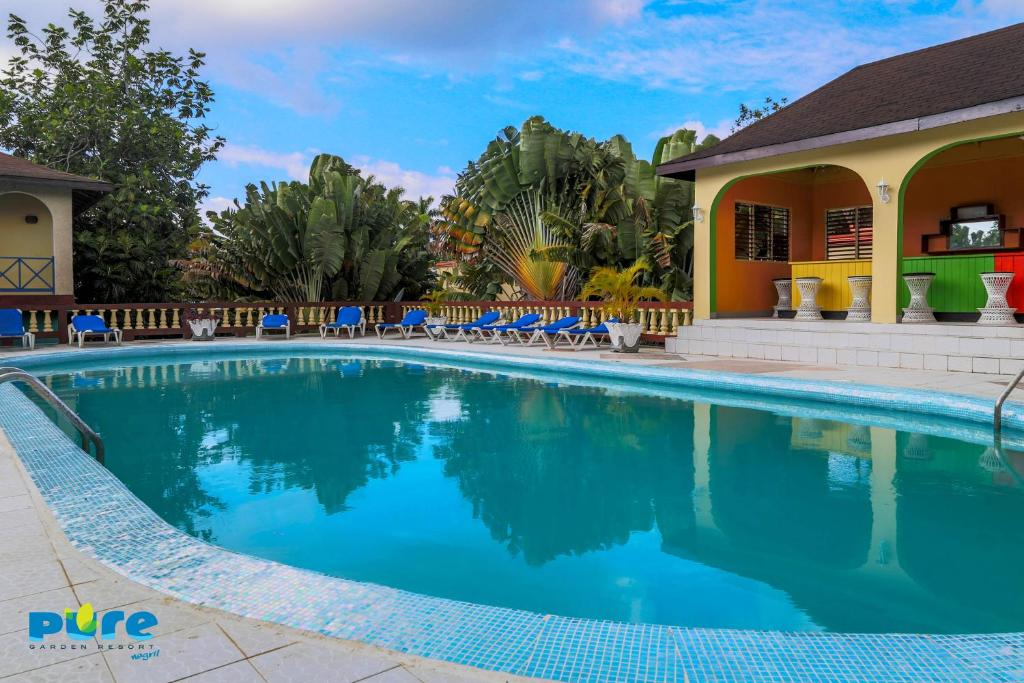 The swimming pool at or near Pure Garden Resort Negril