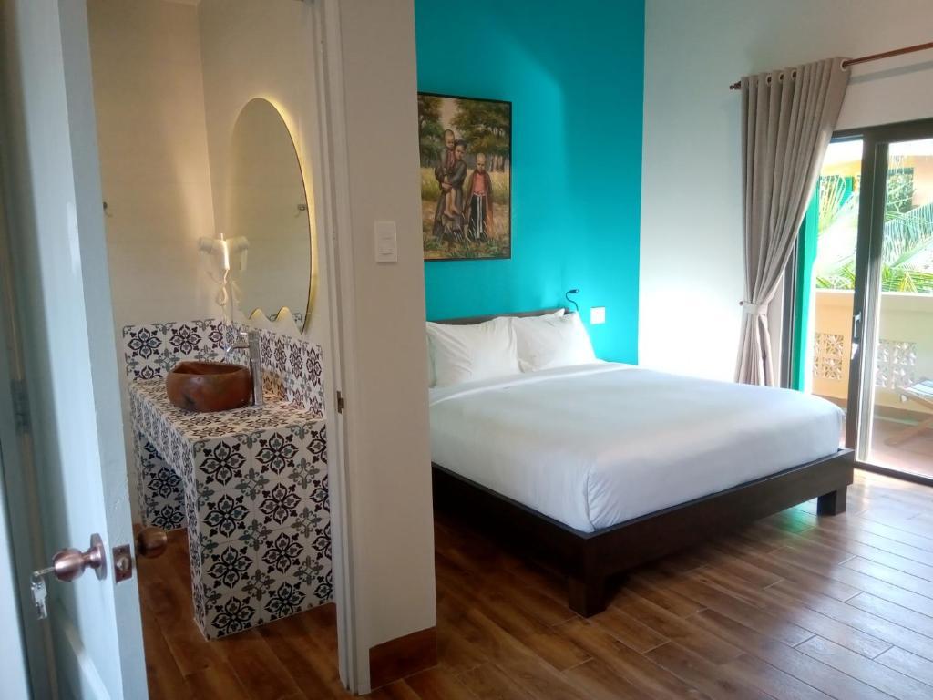 Phòng Deluxe Giường Đôi Với Sân Hiên - Tầng Thượng
