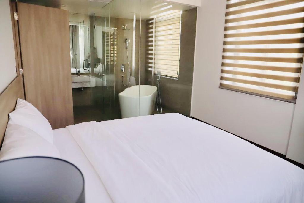 Phòng có giường cỡ King với Bồn tắm Spa