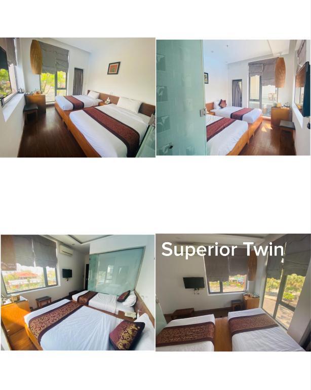 Phòng Superior 2 Giường Đơn Nhìn ra Hồ bơi