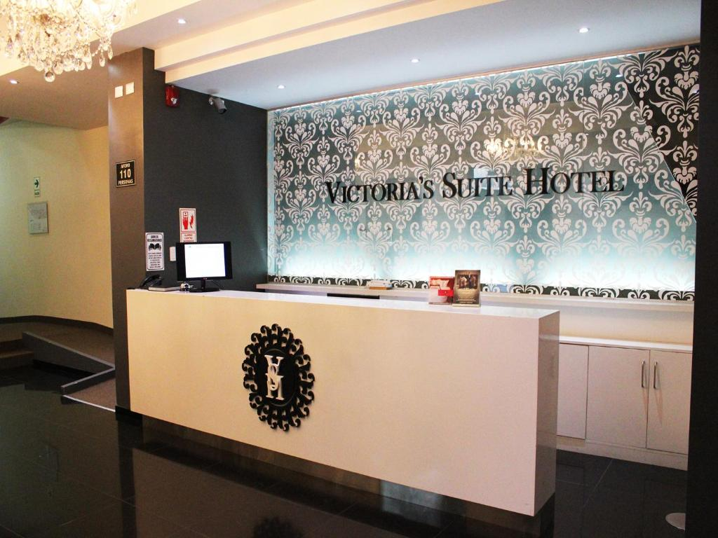 The lobby or reception area at Victoria's Suite Hotel
