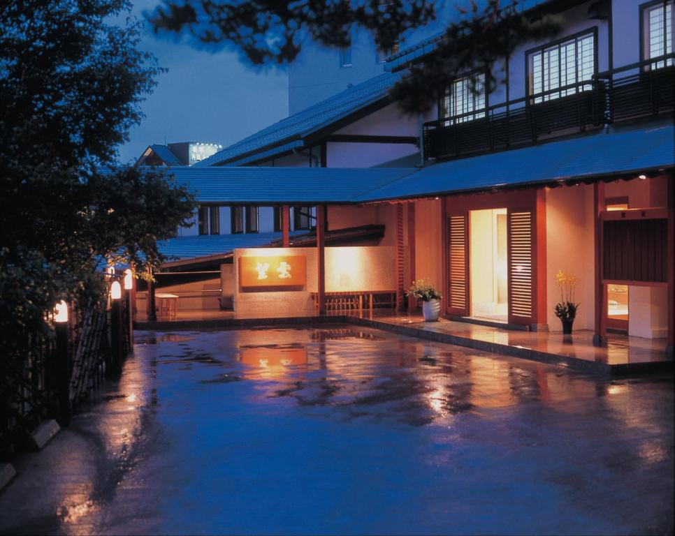 The swimming pool at or near Kusatsu Onsen Boun