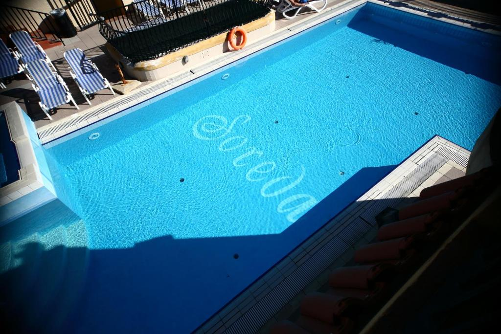 A view of the pool at Soreda Hotel or nearby