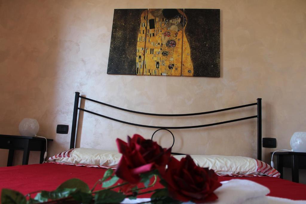 Ein Bett oder Betten in einem Zimmer der Unterkunft B&B Colle Sul Mare