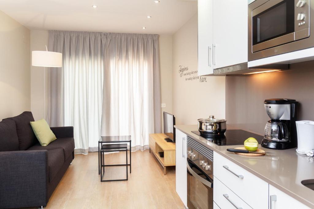 Küche/Küchenzeile in der Unterkunft Feelathome Plaza Apartments