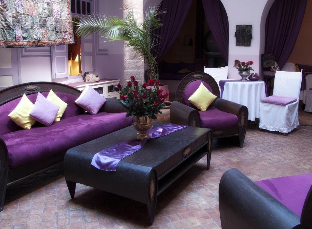 Ein Sitzbereich in der Unterkunft Casa Lila & Spa