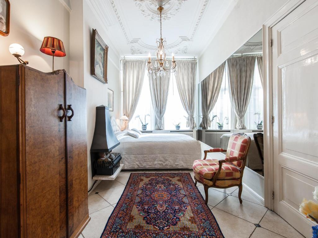Cama o camas de una habitación en Canal House De Schans