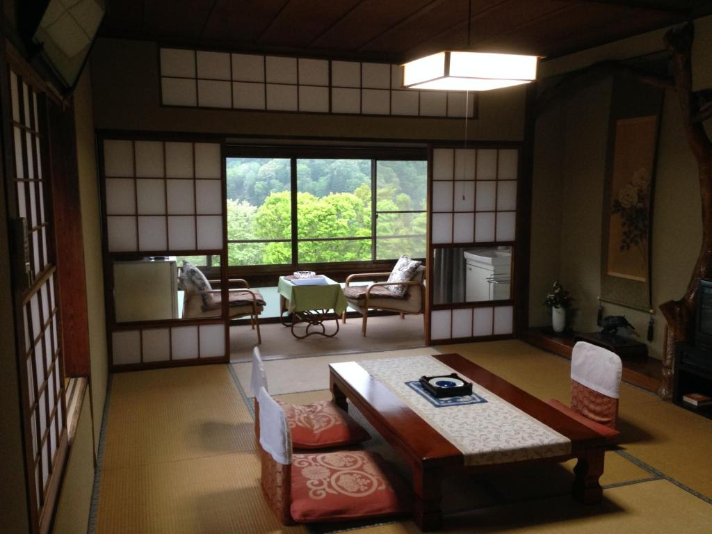 A seating area at Kofukan