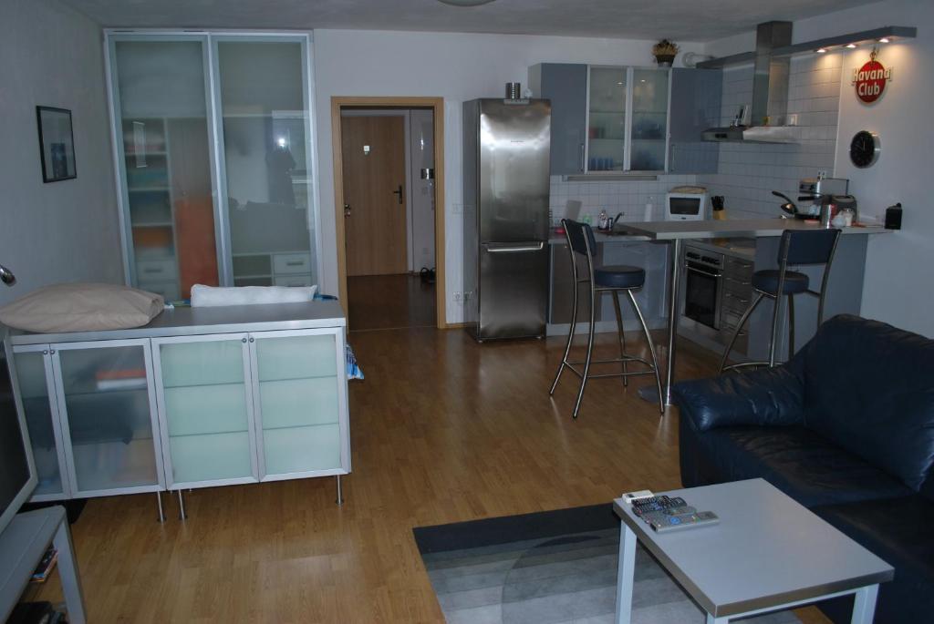 A kitchen or kitchenette at Chotěšovská Apartment with Parking Place