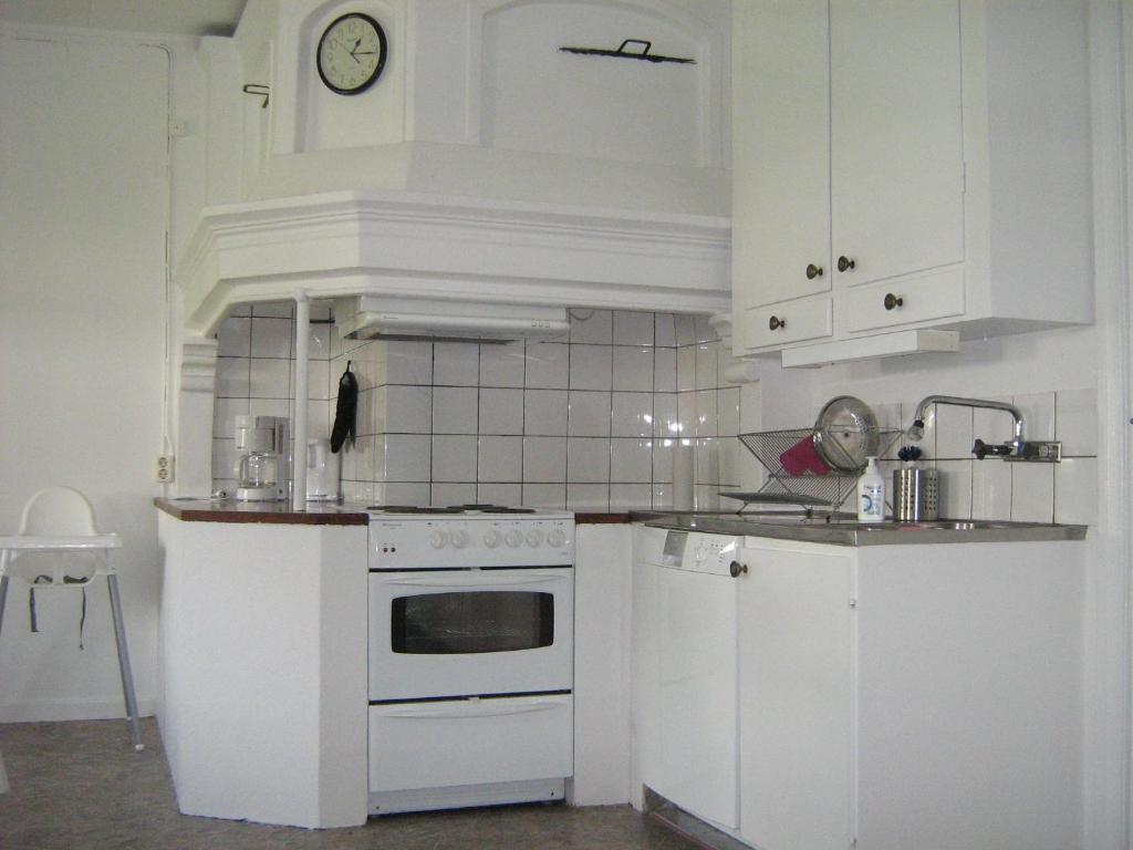 Ett kök eller pentry på Ulricehamn Nilsagården