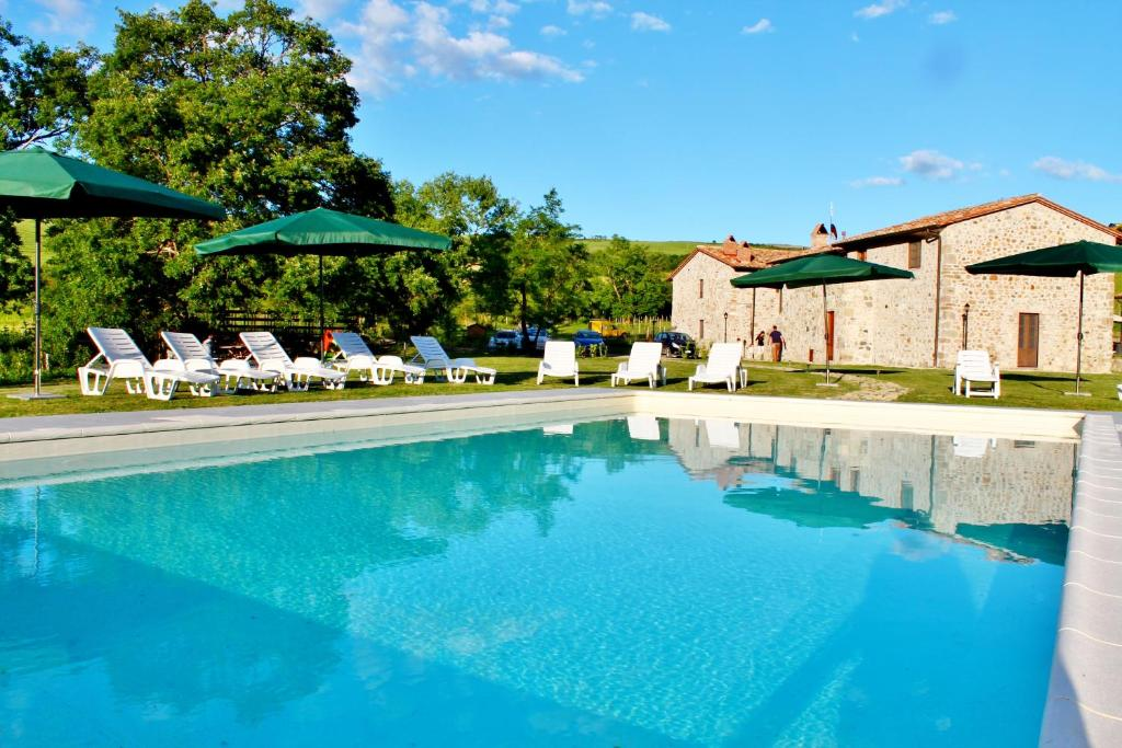 The swimming pool at or close to Podere San Giorgio