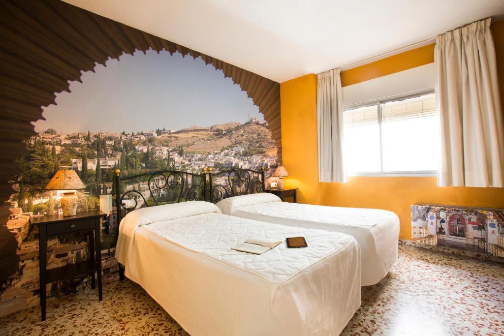 Cama o camas de una habitación en Casa Salvador