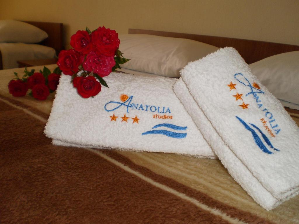A bed or beds in a room at Anatolia Studios