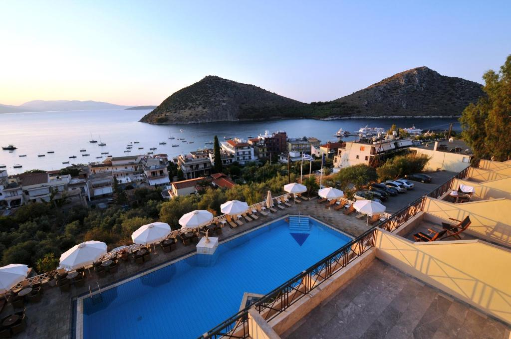 A view of the pool at King Minos Hotel or nearby