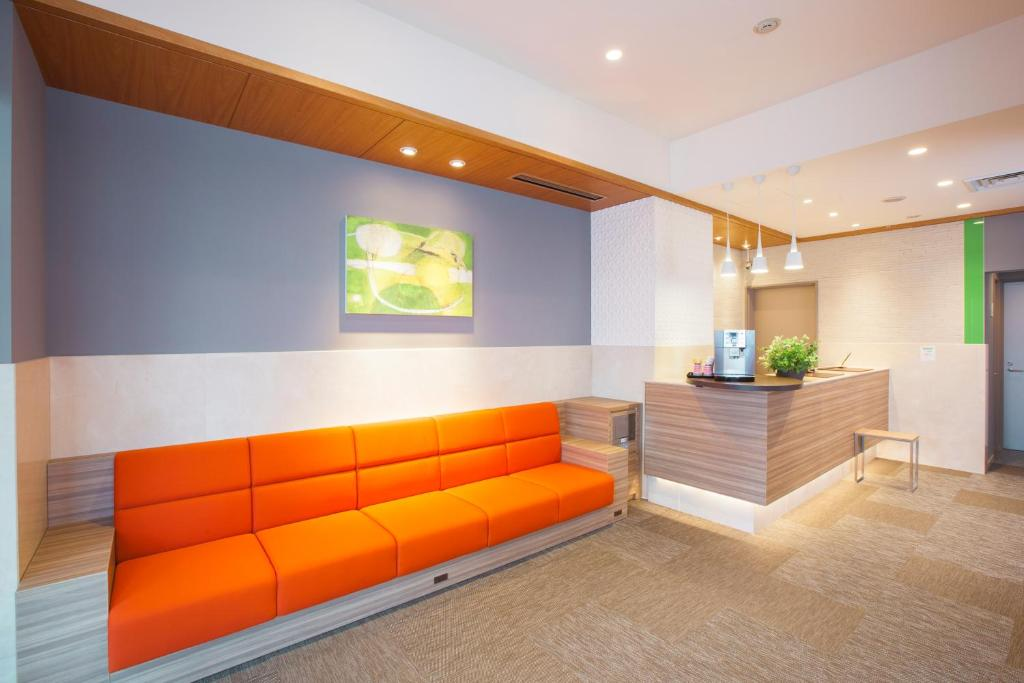 The lobby or reception area at Tokyu Stay Yoga