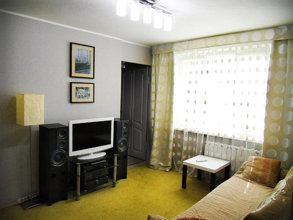 Televiisor ja/või meelelahutuskeskus majutusasutuses Chaykovsky Apartment KLIN