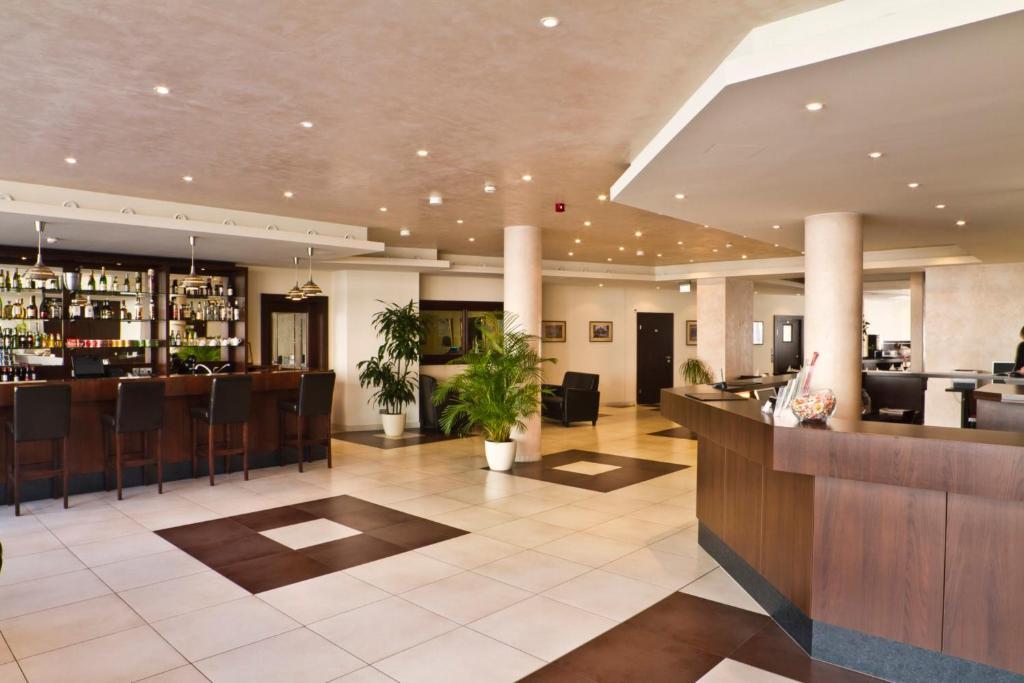 Lobby/Rezeption in der Unterkunft Ivbergs Hotel Berlin Messe