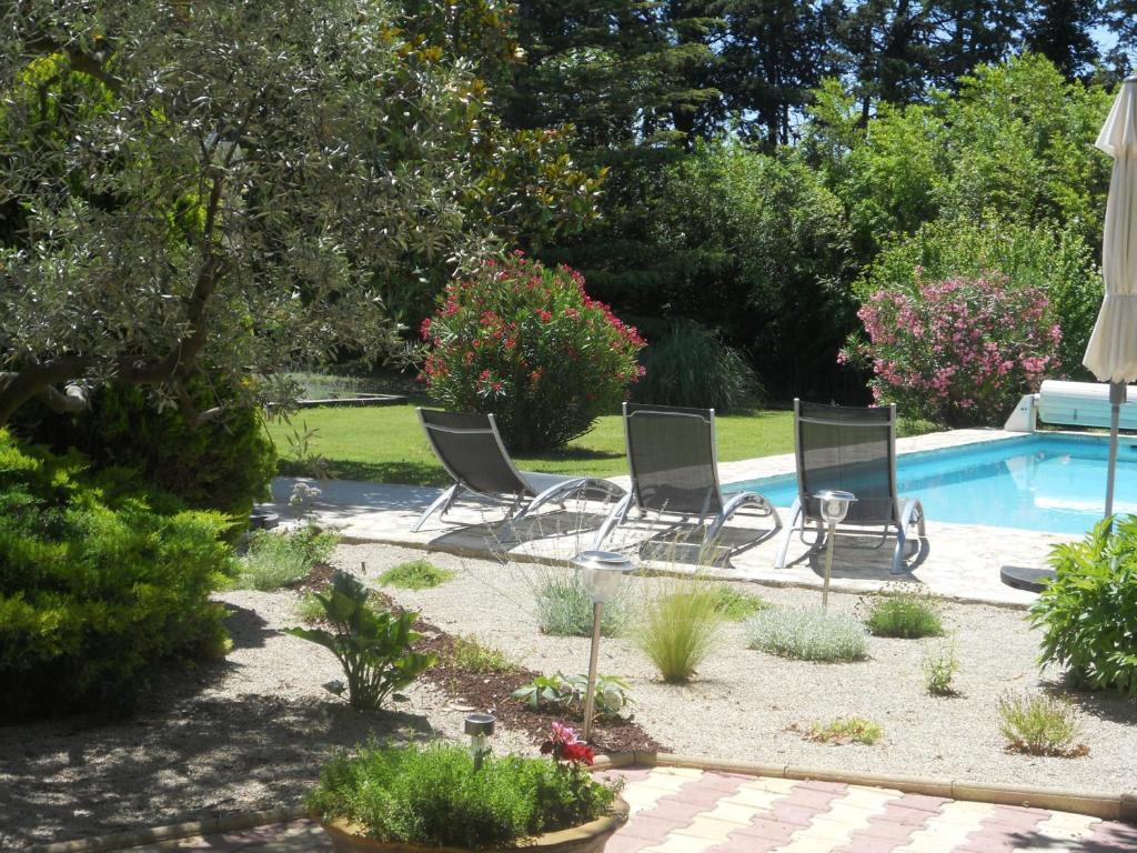 The swimming pool at or near Le Mas Du Platane